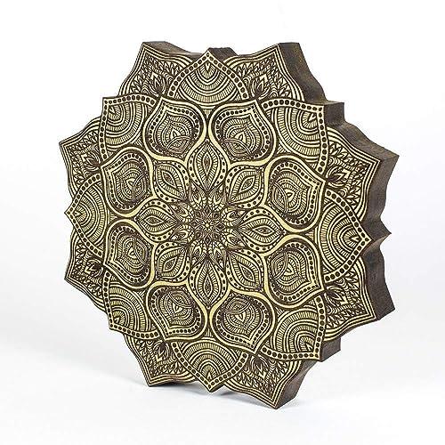 Amazon Com Wooden Mandala Yoga Studio Decor Yoga Gifts Mandala