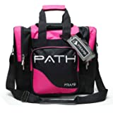 Pyramid Path Pro Deluxe Single Bowling Ball Tote Bowling Bag - Holds One Bowling Ball, One Pair of Bowling Shoes Up to Mens 1
