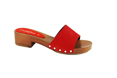 Di E In Colore Vero Zoccolo Camoscio Xprhs7q Silfer Pelle Legno Shoes rBtsodhCQx