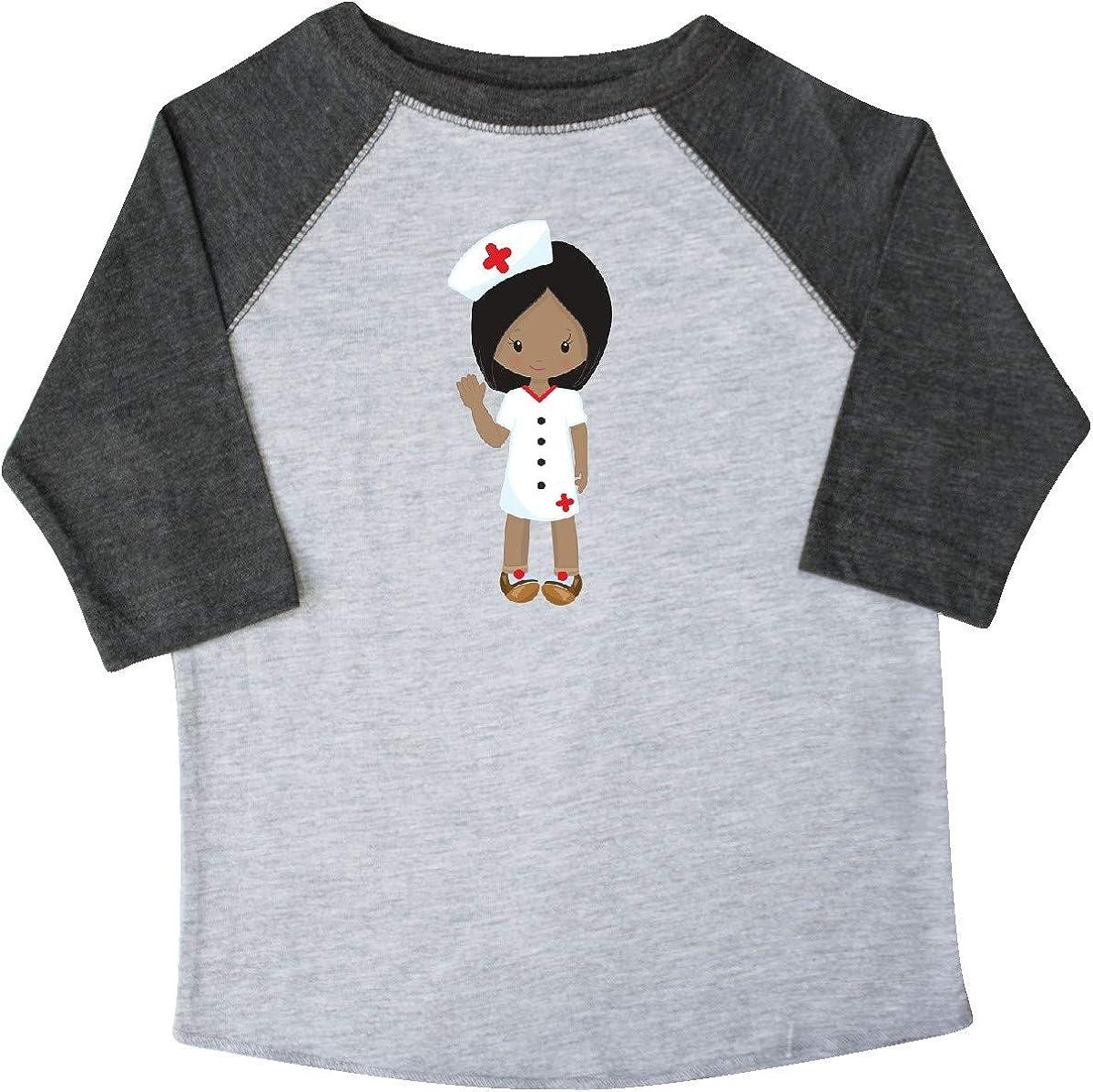 Nurse Uniform Toddler T-Shirt Nurse inktastic African American Girl