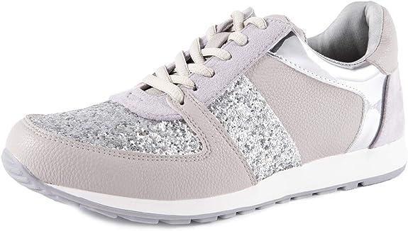 Feversole Women's Glitter Sneakers