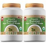 Baron's USDA Organic Tahini Pure Sesame Paste | Rich & Creamy for Hummus, Baba Ghanoush & Dressings | Kosher, Vegan, Unsalted Ground Seeds | Gluten- & Peanut-Free, Keto-Friendly | 2 Jars of 16 Oz.