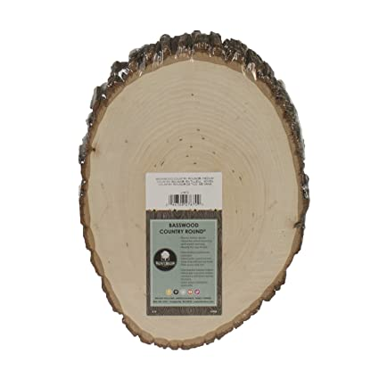 walnut hollow basswood country round medium for woodburning home dcor and rustic weddings