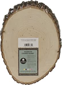 Walnut Hollow Basswood Country Round, Medium for Woodburning, Home Décor and Rustic Weddings