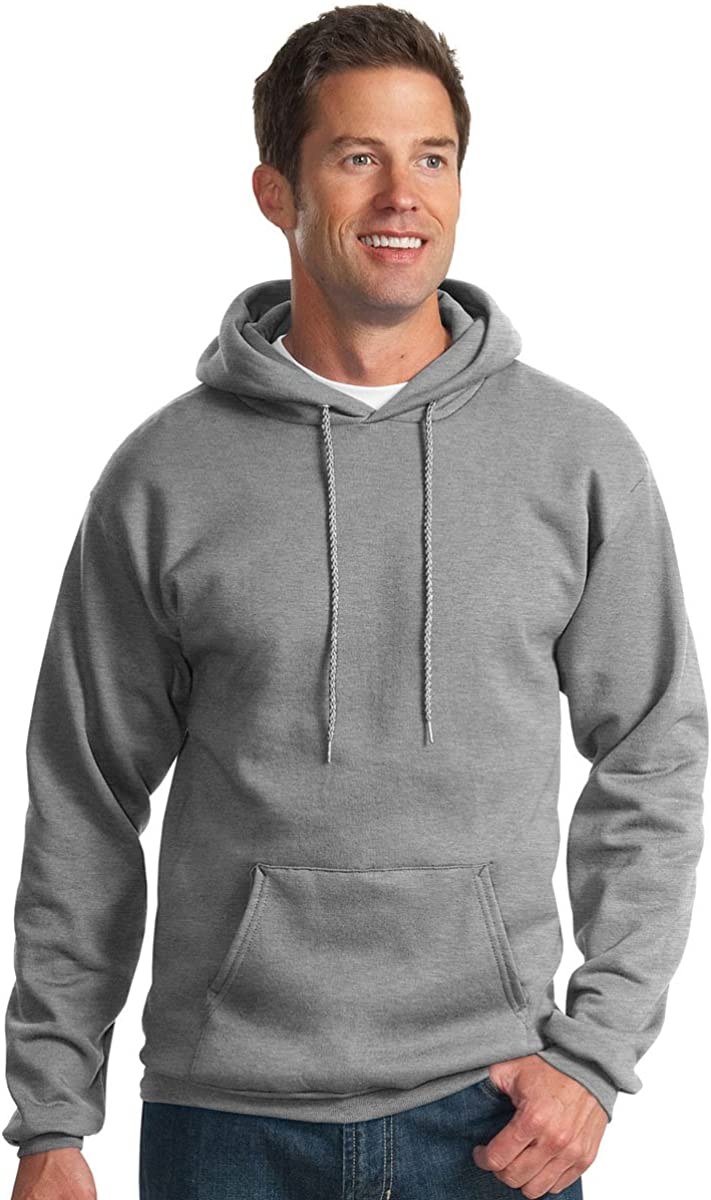Athletic Heather Port /& Company Mens Hooded Fleece Sweatshirt