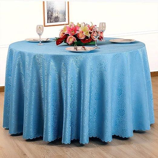LTS The Linen - Mantel Redondo de Lino para Cocina, Mesa de ...