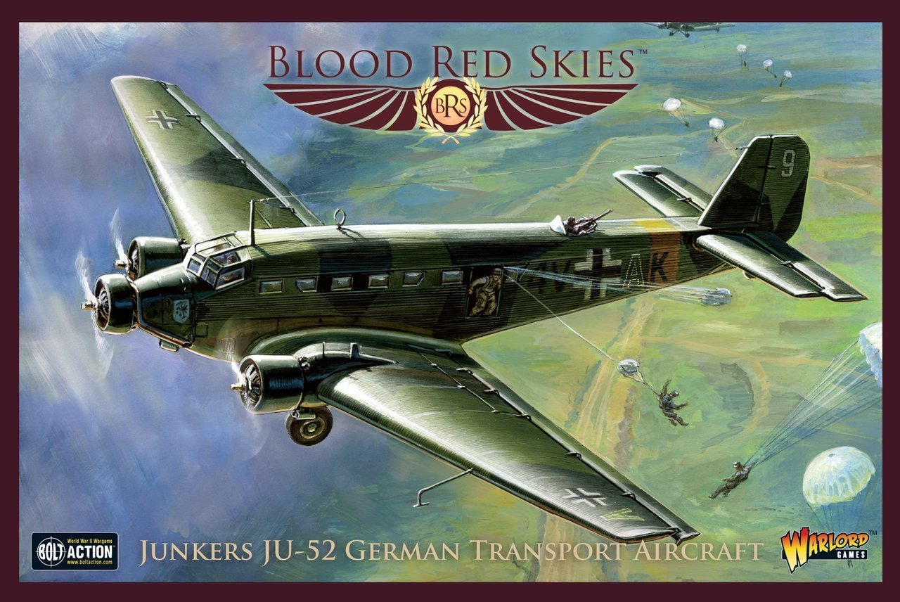 Amazon com: Blood Red Skies Junkers JU-52 German Transport Aircraft