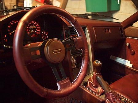 RedlineGoods bota//funda para palanca de cambios Compatible with Mazda RX7 1981-85 Alcantara Negra Costura Plata