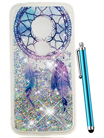 online store 1d364 597aa Moto E5 Play Case, Moto E5 Cruise Case, CAIYUNL Glitter Quicksand Liquid  Floating Sparkle Bling Clear Protective Luxury Design Cute Phone Case for  ...