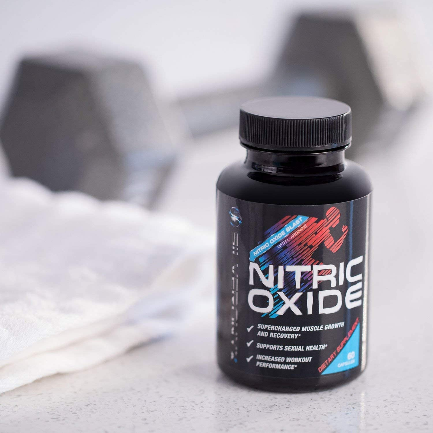 Extra Strength Nitric Oxide Supplement L Arginine 1300mg - Citrulline Malate, AAKG, Beta Alanine - Premium Muscle Building No Booster for Strength & Energy to Train Harder - 60 Capsules: Health & Personal Care