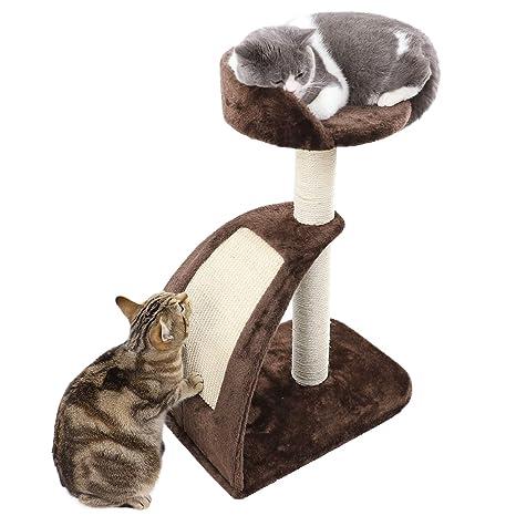 PAWZ Road Rascador Gato – Árbol para Gatos Árbol Escalada algodón Parte Árbol Parte Sisal Kratz