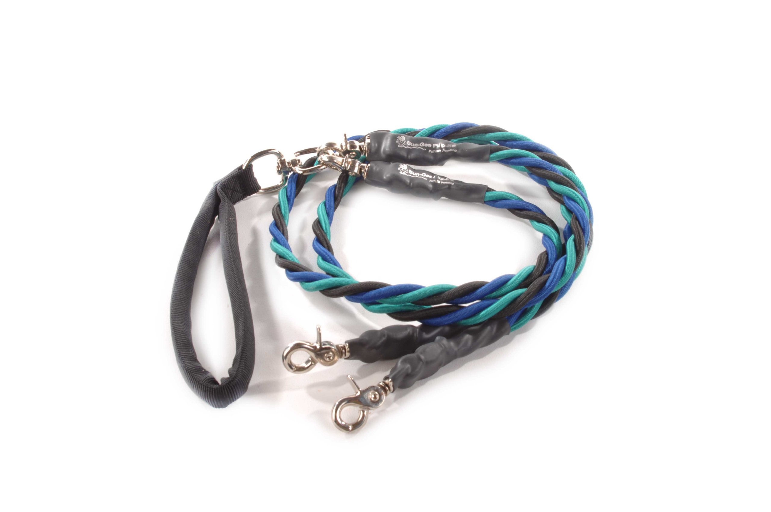 Bungee Pupee 4-Feet Double Large Leash, Teal/Blue/Black by Bungee Pupee (Image #1)