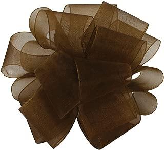 "product image for Offray Berwick LLC 429792 Berwick Simply Sheer Asiana Ribbon -1-1/2"" W X 100 yd - Chocolate Ribbon"