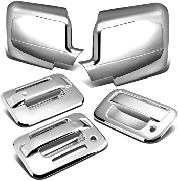 08-14 Ford Super Duty Chrome Mirror+4 Door Handle w//o PSG Keyhole+Tailgate Cover