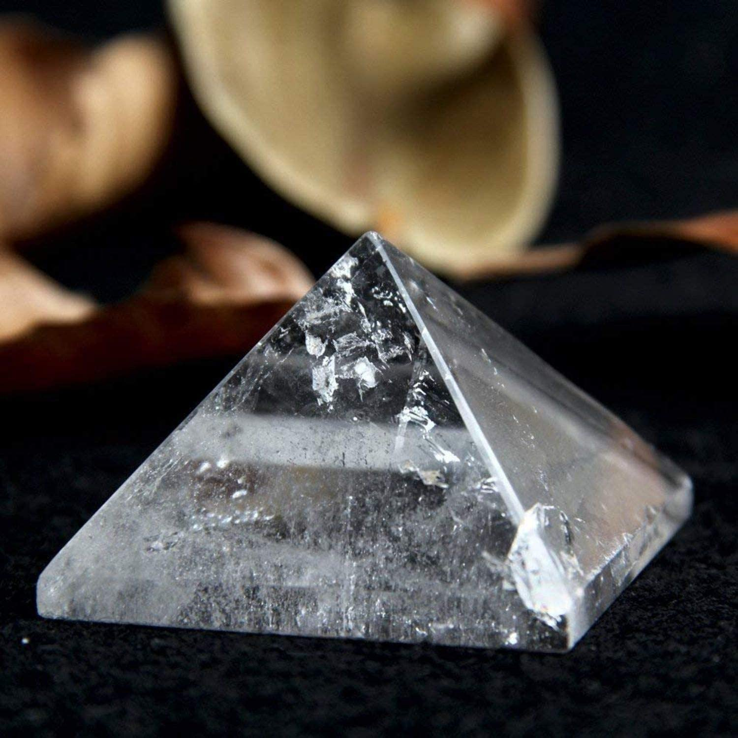 "// Crystal Pyramid Points 4-Sided // 2-1//2/"" Long 20 Pieces Point to Point"