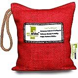 Breathe Fresh Vayu Natural Lite - Portable Deodorizer & Dehumidifier for Washrooms, Closets, Cars - 200g (Cherry Red)