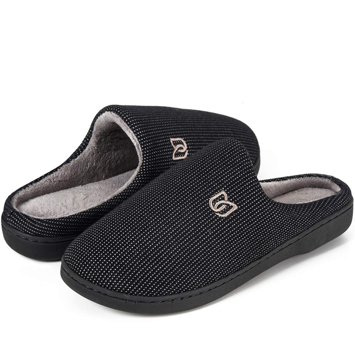 WateLves Men's Slippers Memory Foam Classic Two-Tone House Slippers