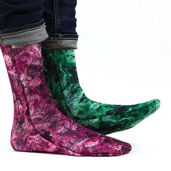 Samson® mano impreso 3d sublimación Tubo de calcetines tripulación Odd moda calle Casual Calzado multicolor