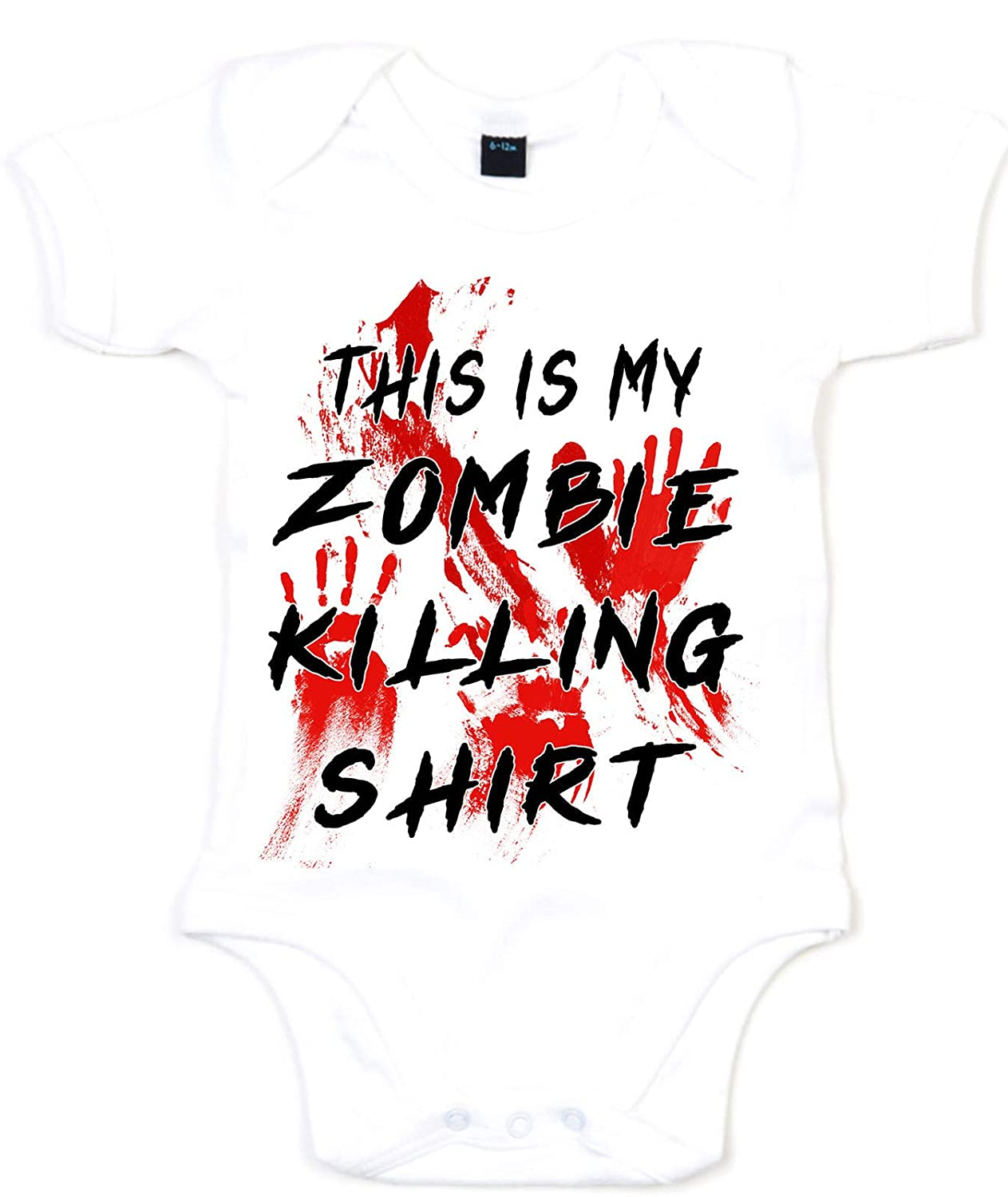 This is My Zombie Killing Shirt Halloween Babygrow