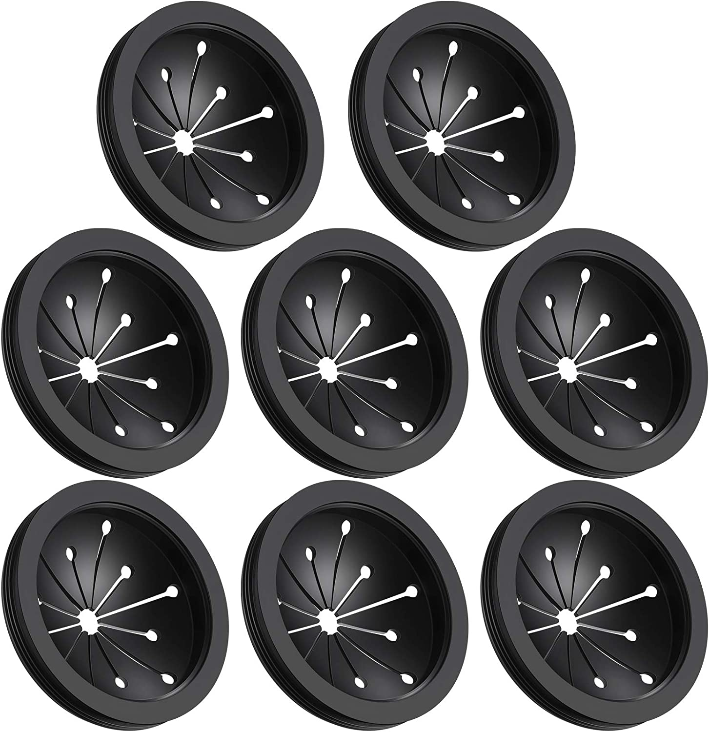 8 Pieces Garbage Disposal Splash Guards Sink Baffles Splash Stoppers Multipurpose Food Waste Disposer Accessories Kitchen Sink Accessories Compatible with Whirlaway, Sinkmaster, GE Models