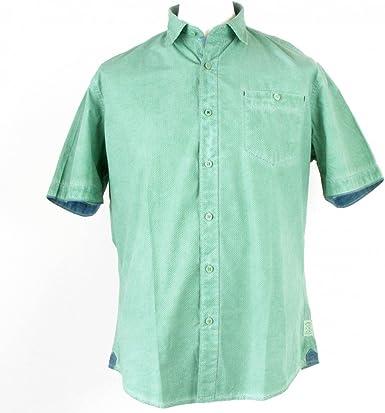 Pioneer - Camisa casual - Étnica - Clásico - Manga corta - para hombre verde jade 46: Amazon.es: Ropa y accesorios