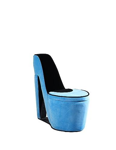 Ore International Storage Chair, 32 , Azure Blue