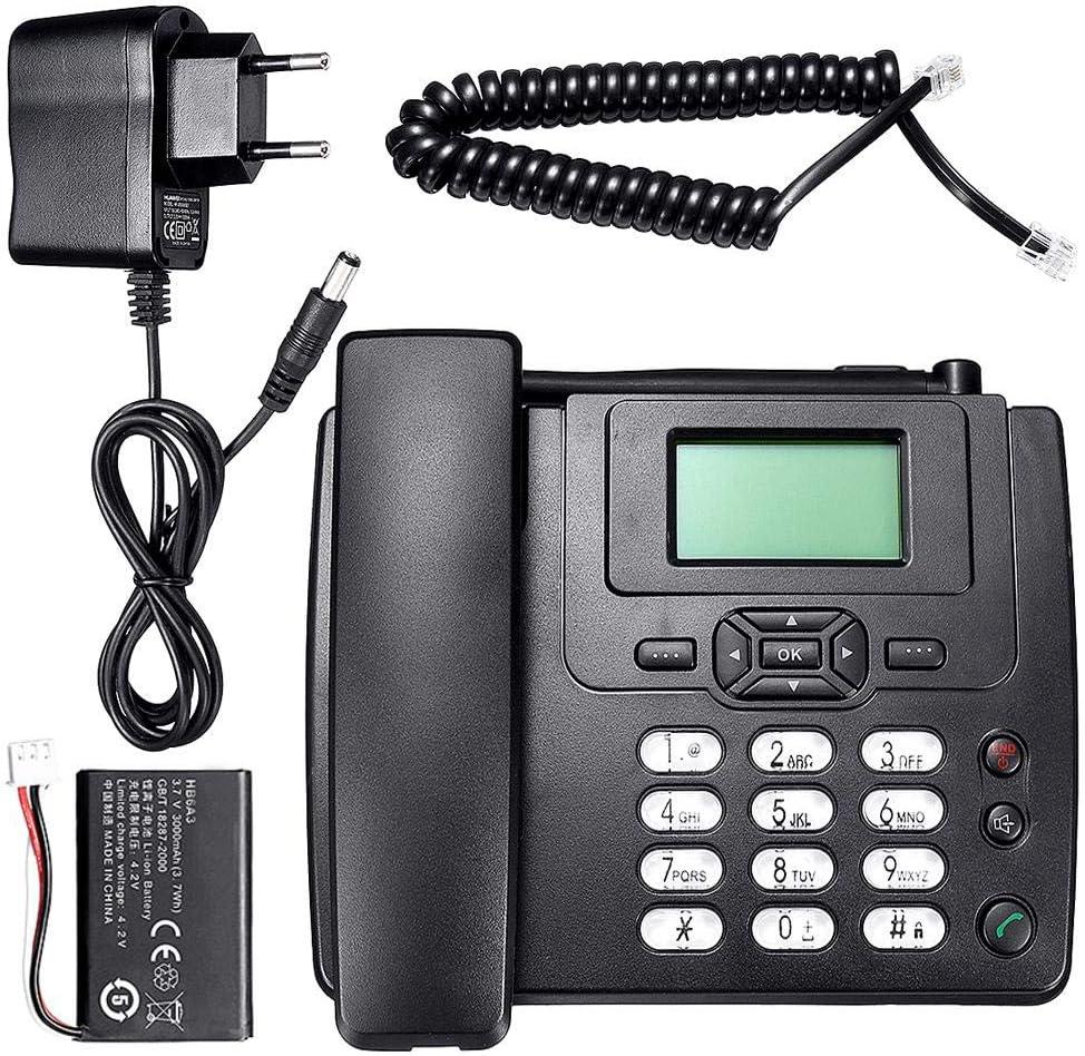 Euopat Teléfono Inalámbrico, Teléfono Comercial gsm Teléfono De Escritorio Tarjeta SIM Móvil Home Office Teléfono De Escritorio