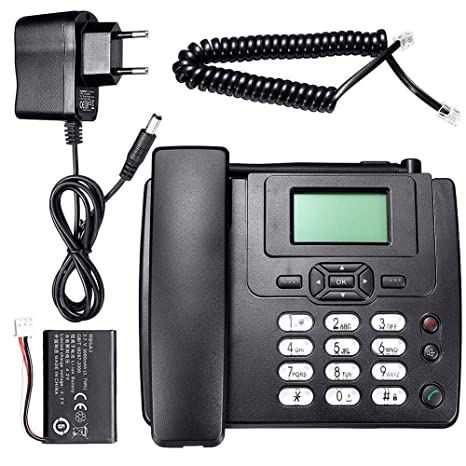 Longshow Desktop Telephone - Wireless Telephone HOT Fixed Wireless GSM Desk  Phone SIM Card Mobile Home Office Desktop Telephone