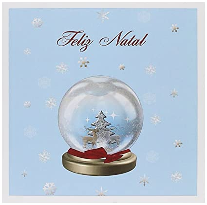 How Do You Say Merry Christmas In Portuguese.Snow Globe Deer Tree And Snowflakes Merry Christmas Greeting Card 6 X 6 Inches Single Gc 160043 5