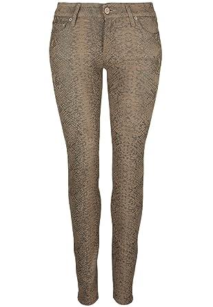 7 Femme Animal Mankind W25 For Imprimé Marron Pantalon All rXOrEPwnqY