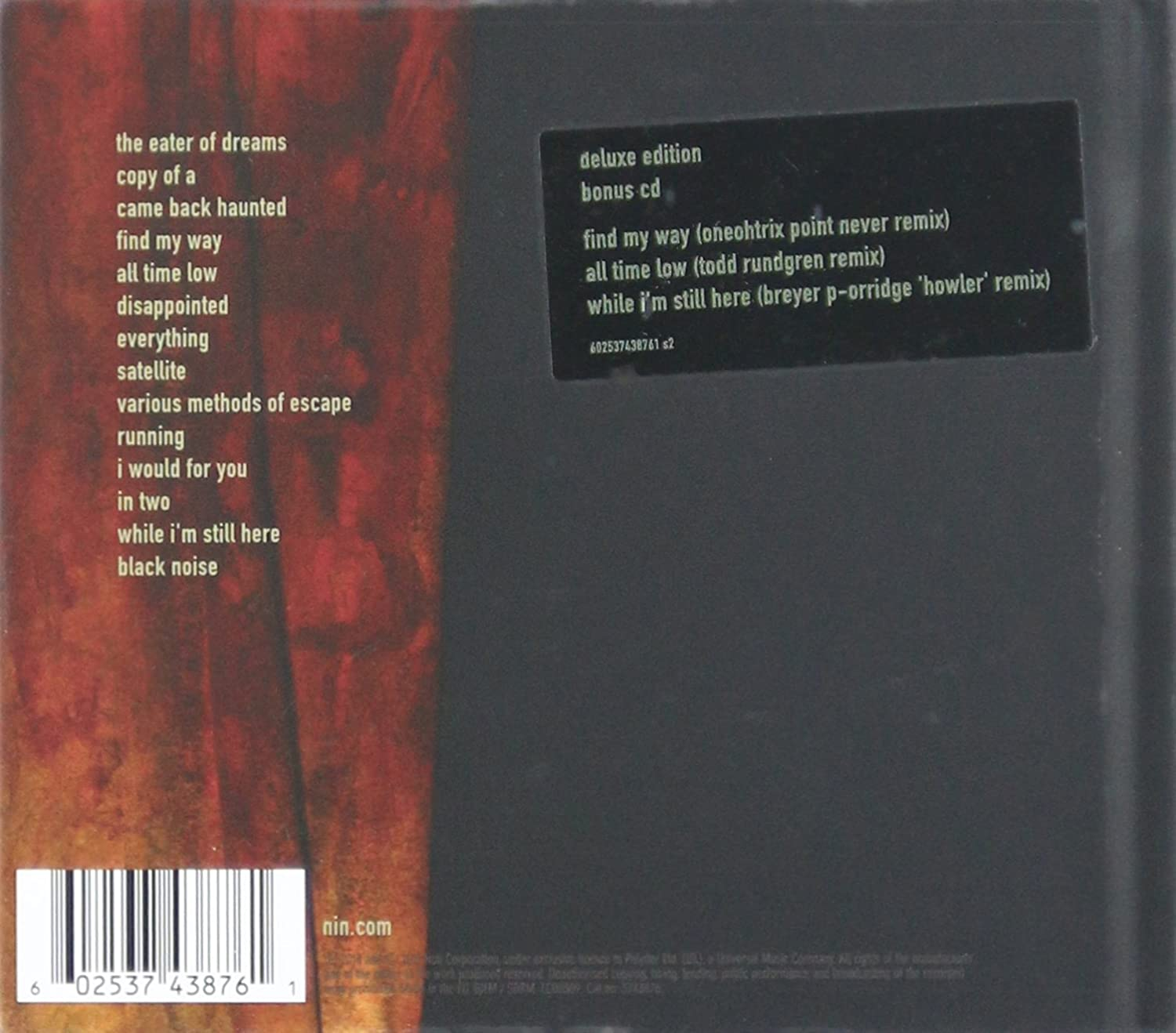 Hesitation Marks (Deluxe 2CD): Nine Inch Nails: Amazon.ca: Music