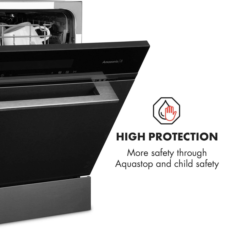 acier inoxydable intensif ECO Klarstein ia 8 Myst noir 6 programmes: auto lave-vaisselle encastr/é verre lave-vaisselle rapide et autonettoyant normal
