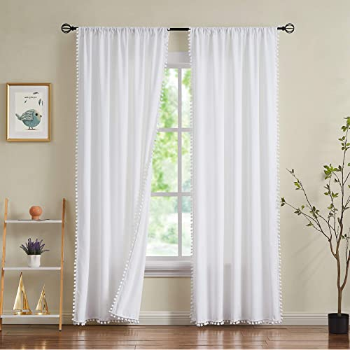 Treatmentex White Velvet Curtain