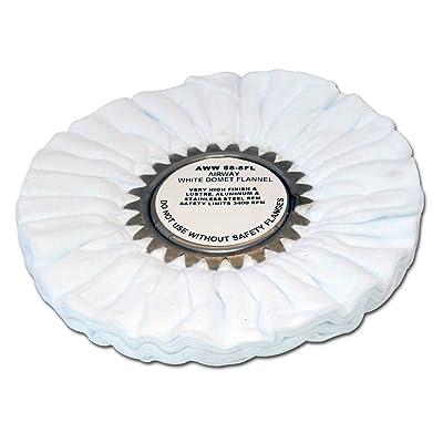 Zephyr AWW 58-8 FL White Domet Flannel Airway Buffing Wheel: Automotive