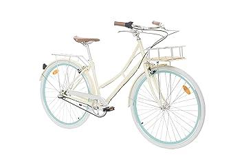 """Fabric City Bicicleta de Paseo- Bicicleta de Mujer 28"""" con Cesta, Cambio Interno"""