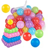 Coogam Pit Balls Pack of 50 - BPA Free 6 Color Hollow Soft Plastic Ball for Years Old Toddlers Baby Kids Birthday Pool…