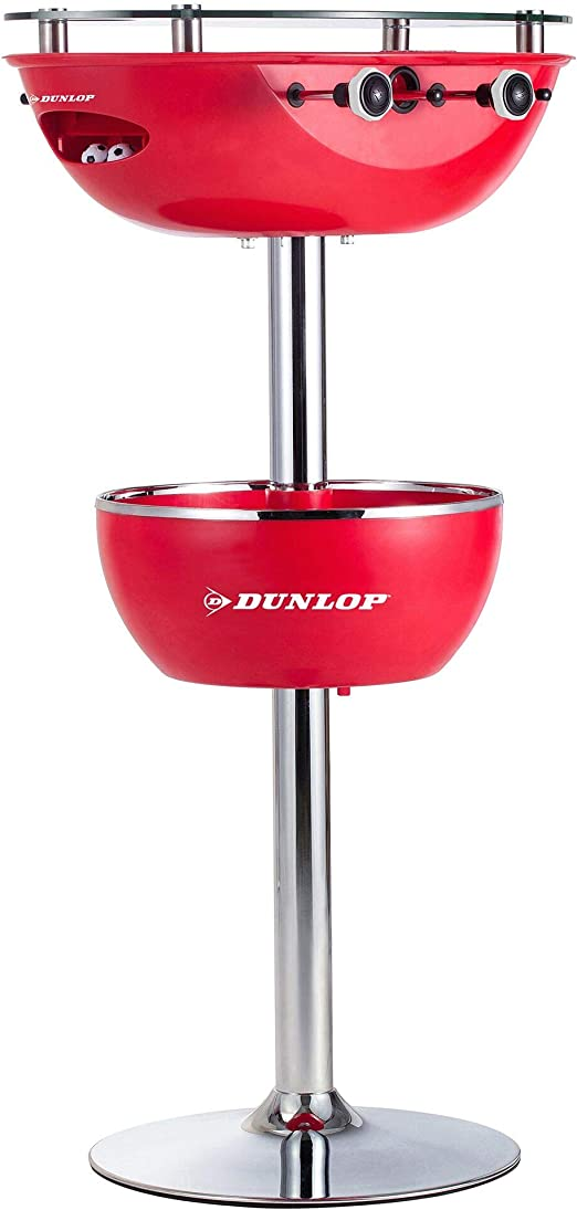Dunlop 2 en 1 Mesa de futbolín con Parte Superior de Cristal ...