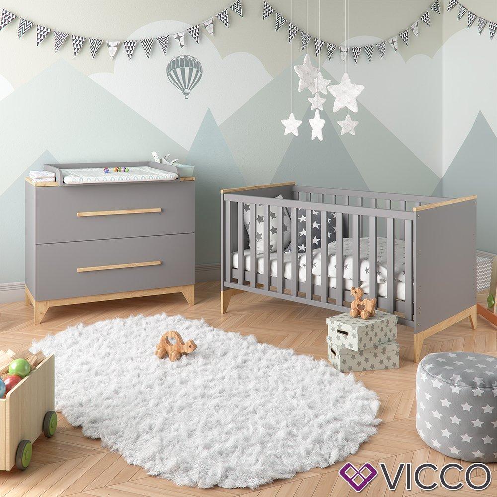 Vicco Wickeltisch Malia Wickelkommode Baby Kids Wickelregal