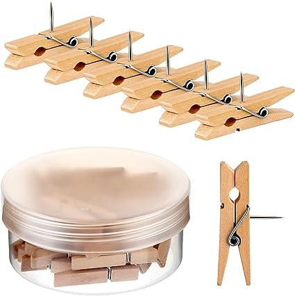 Holz Clips Push Pins Clips Pushpin Rei/ßn/ägel Holz Hanwerk Pins f/ür Kork Brett Handwerk Projekte Foto Zubeh/ör 100 St/ücke
