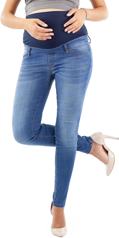 Mujer Elasticos Y Comodos Made In Italy Pantalones Premama Estilo Vaquero Con Lavado Ropa Heritagejewels Com Pk