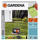 Kit completo per sistema pop-up GARDENA con irrigatore oscillante pop-up OS 140: Sistema di irrigazione per superfici quadrate/rettangolari (8221-20)