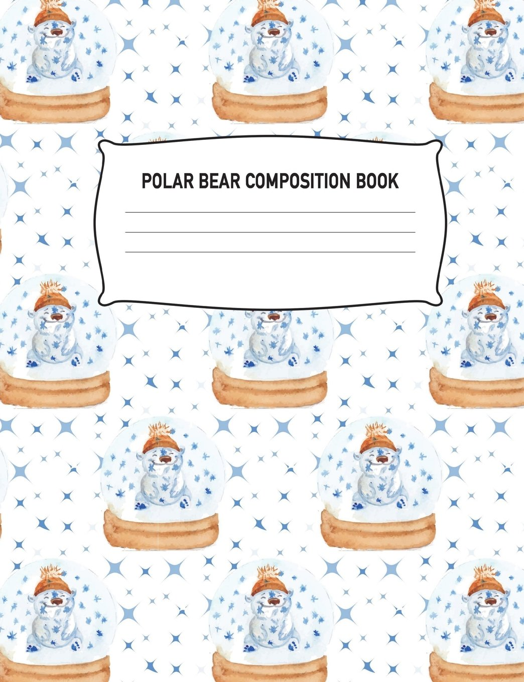 Read Online Polar Bear Composition Book: Notebook Wide Ruled Notepad Arctic Circle Animal Pattern Effect Diary Practice Journal Organizer: Adults Kids Youth: ... 7.44 x 9.69 Lined Paper Pad 100 Pages PDF
