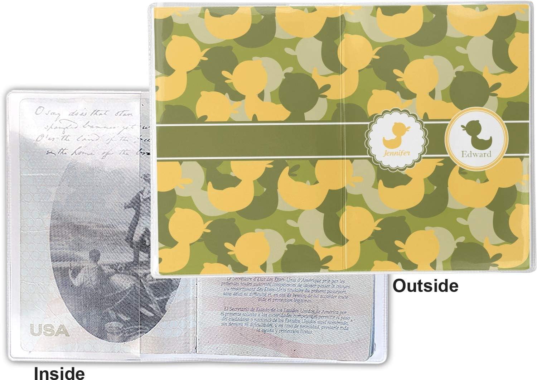 Rubber Duckie Camo Vinyl Passport Holder Personalized