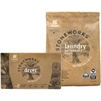 Grab Green Stoneworks Laundry Detergent Pods and Dryer Sheet Kit, Powered by Naturally-Derived Plant & Mineral-Based…