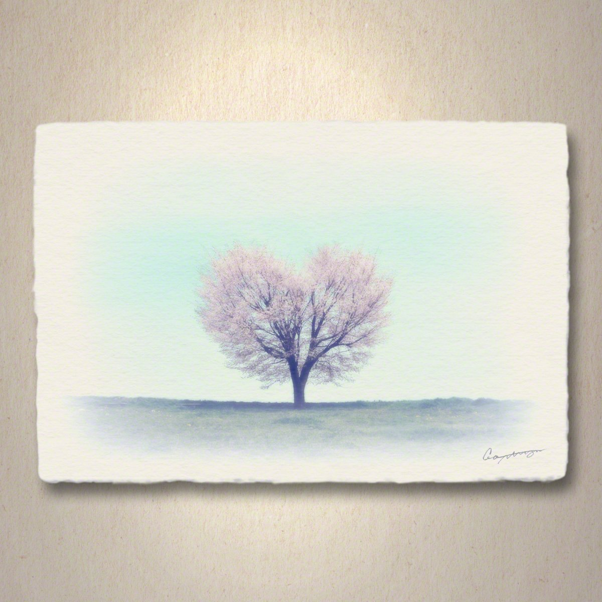 和紙 アートパネル 「丘の上のハートの桜の木」 (81x54cm) 結婚祝い プレゼント 絵 絵画 壁掛け 壁飾り インテリア アート B07DRL4TXX 17.アートパネル(長辺81cm) 88000円|丘の上のハートの桜の木 丘の上のハートの桜の木 17.アートパネル(長辺81cm) 88000円