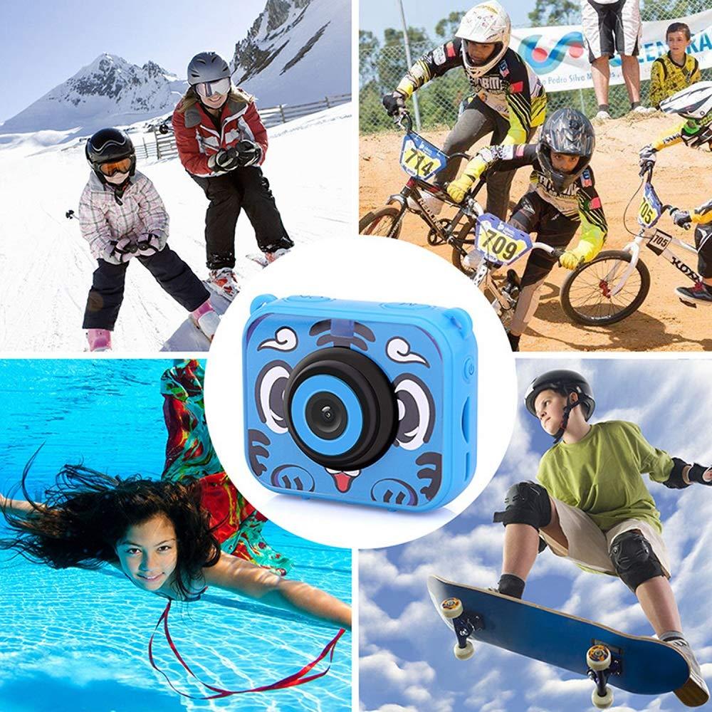 Posiveek Children Kids Camera Waterproof 100FT HD Action Camera 1080P 12MP Sports Camera Camcorder 2 inch LCD Screen (Blue) by POSIVEEK (Image #6)
