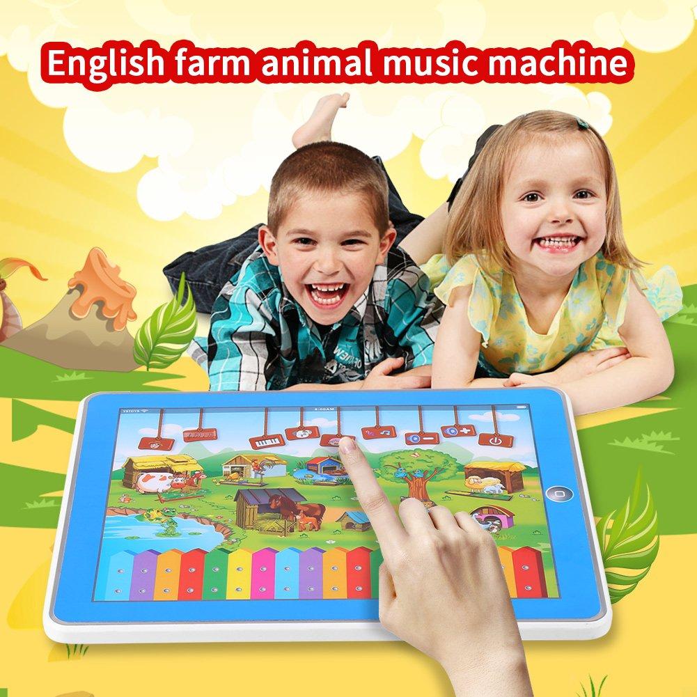 Beb/é Juguete musical Granja Animal Melod/ía Sonar Toque Pantalla Educativo Piano Juguete de tableta