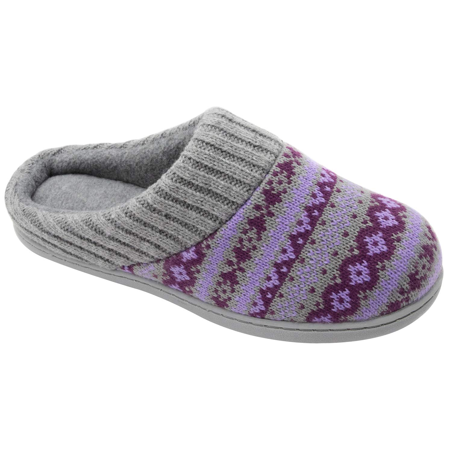 RockDove Sweater Knit Scuff Slippers for Women (9-10 B(M) US, Periwinkle)