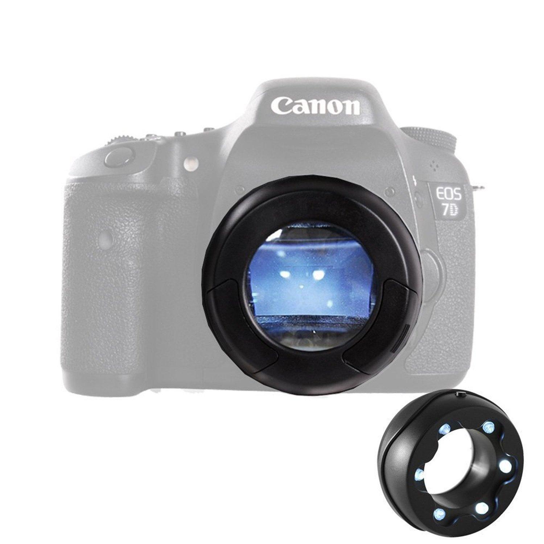 Micnova MQ-7X Camera Clean SLR Sensor Loupe with Six Dust Illuminating Bright LED's for All Cameras Canon EOS T6 Nikon D3300 D3400 Sony A9 Panasonic Camcorders