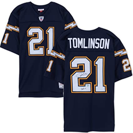 hot sales d3795 27db8 LaDainian Tomlinson San Diego Chargers Autographed Navy ...